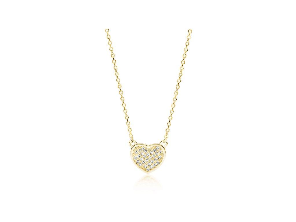 Stříbrný náhrdelník SRDÍČKO GOLD od OLIVE