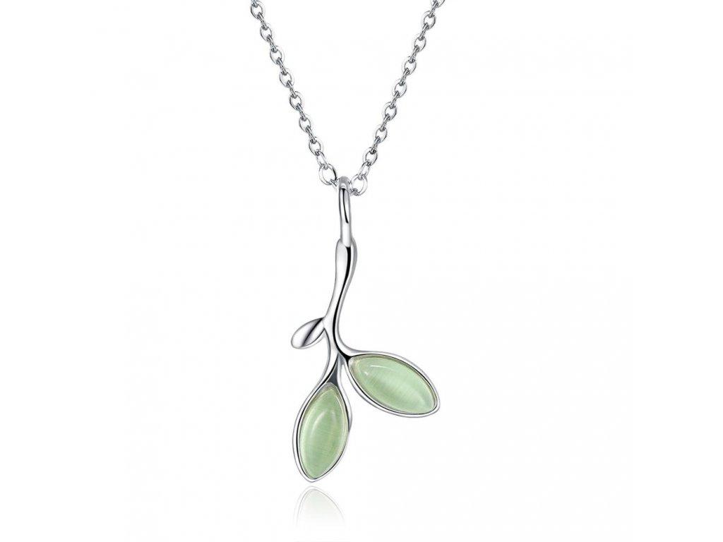 Stříbrný náhrdelník OLIVA