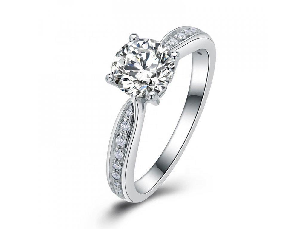 Stříbrný zásnubní prsten COURTNEY od OLIVIE