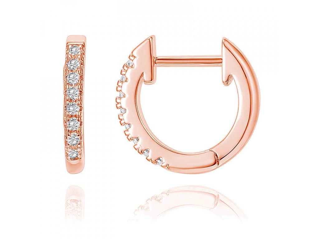 Stříbrné kroužky ROSE růžově zlacené od OLIVIE