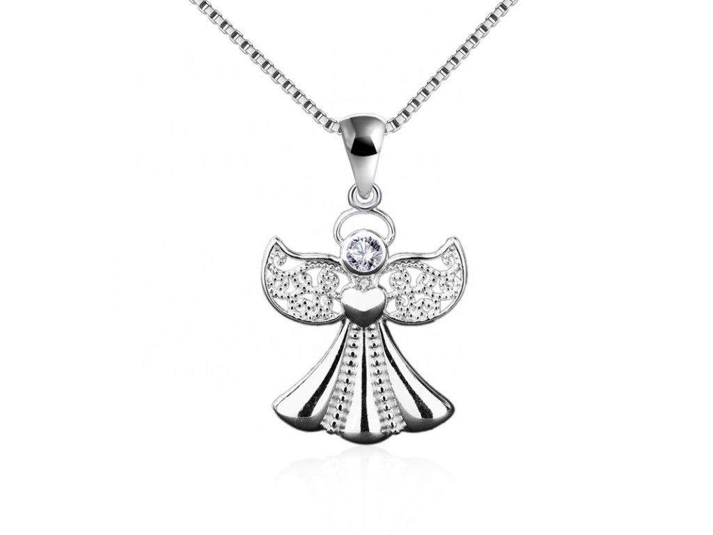Stříbrný přívěsek ANDĚL. Nejkrásnější dárek po každou ženu! OLIVIE