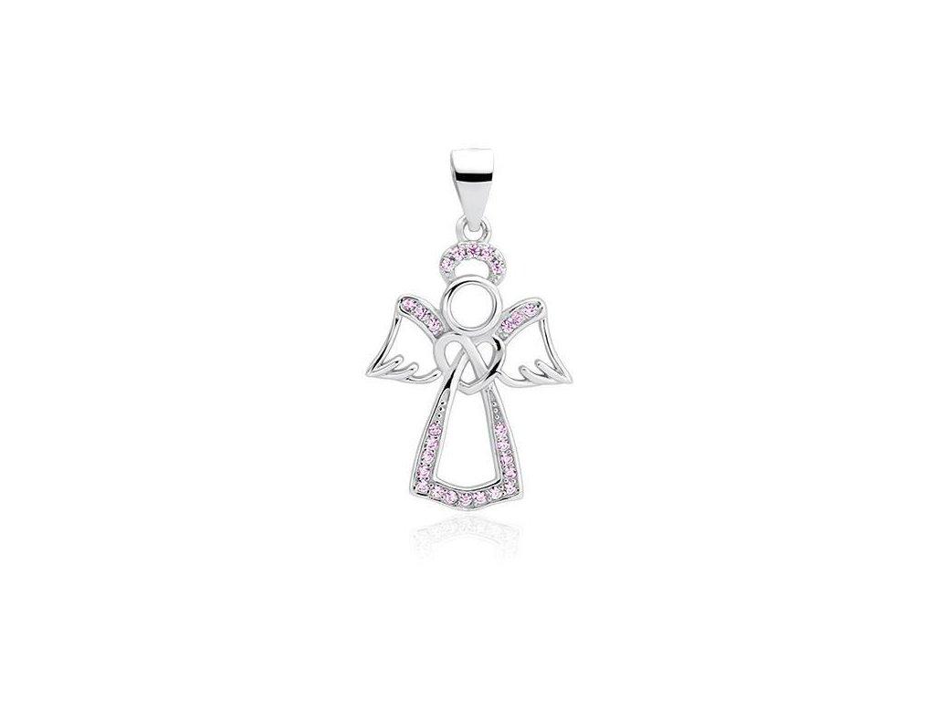 Stříbrný andílek přívěsek