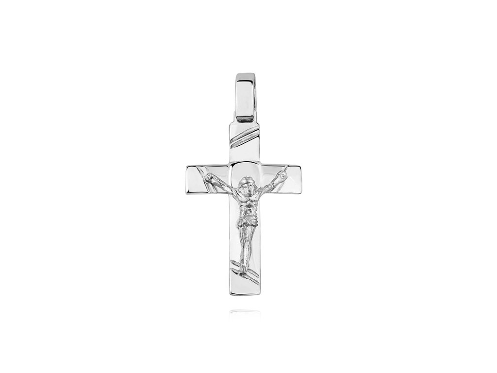Stříbrný přívěsek KŘÍŽEK S JEŽÍŠEM pánský od OLIVIE