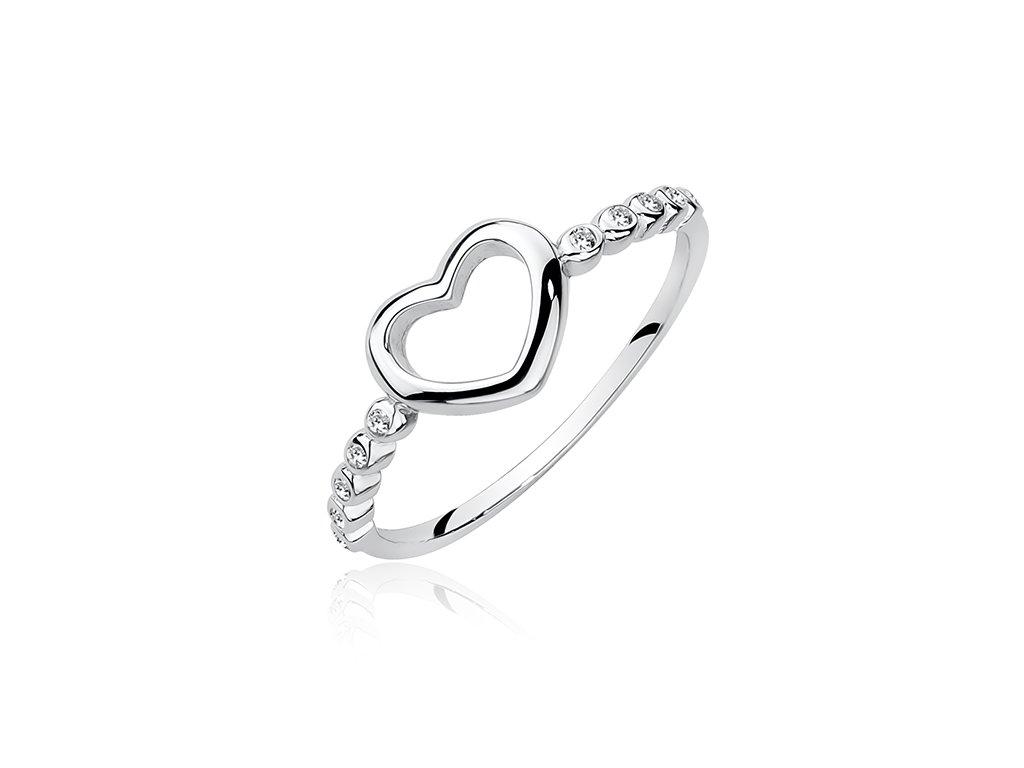 Stříbrný prsten SRDCE srdíčko od OLIVIE