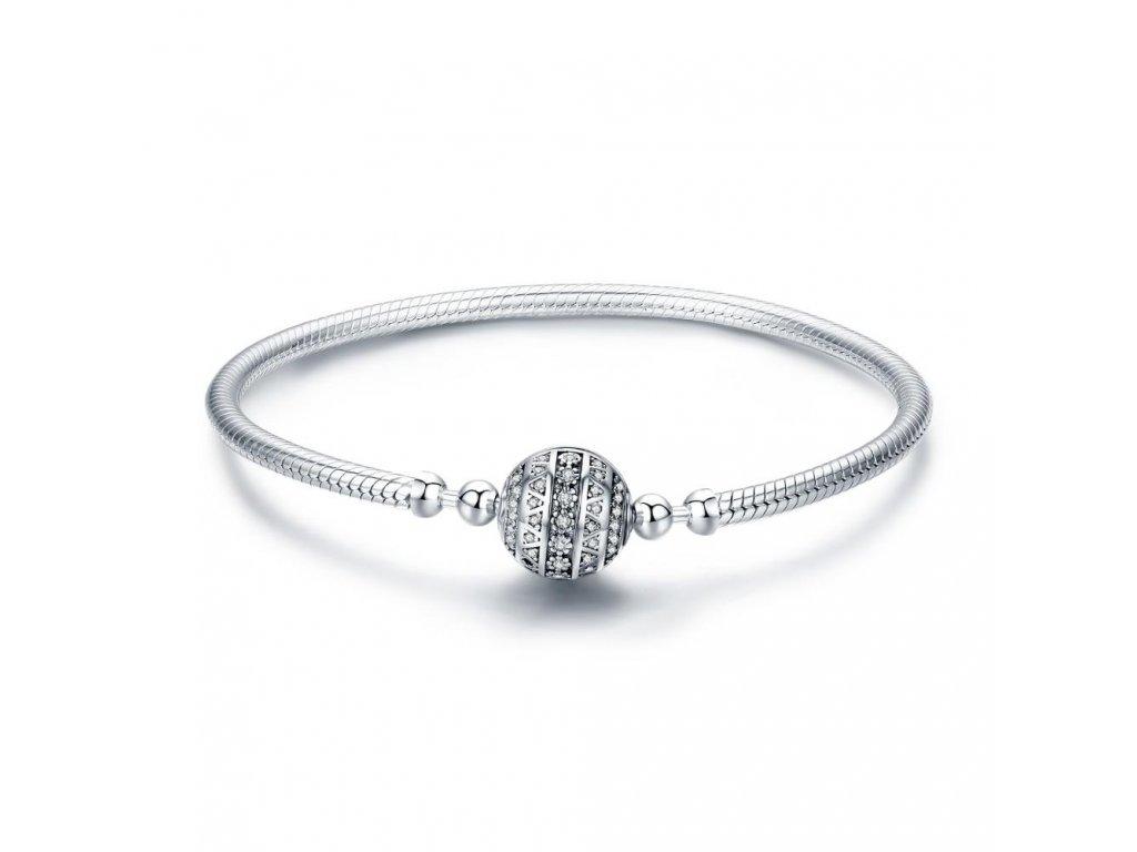 Stříbrný kruhový náramek KULIČKA od OLIVIE. Krásný dárek pro ženu!