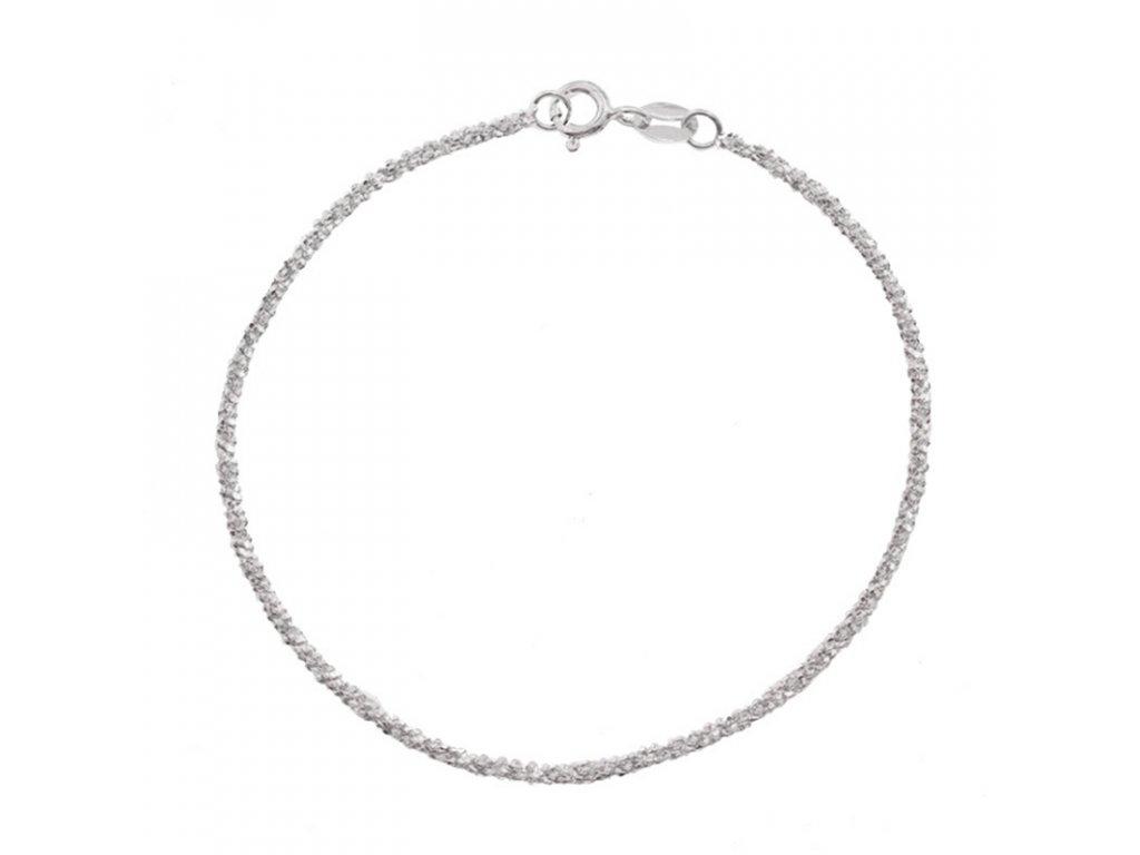 Stříbrný náramek TŘPYTIVÝ SNÍH od OLIVIE