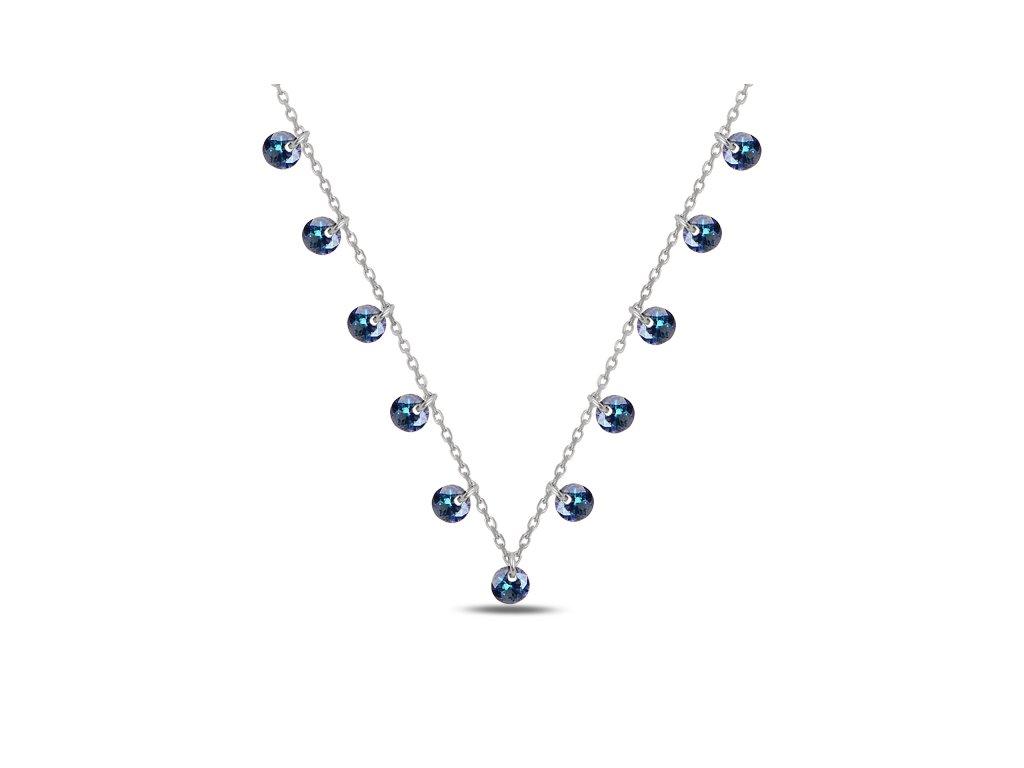 Stříbrný náhrdelník MODRÉ Z NEBE od OLIVIE