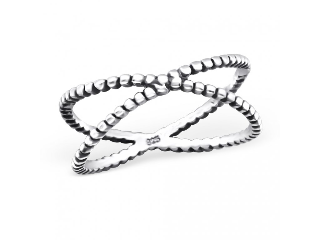 Stříbrný oxidovaný prsten OLIVIE.CZ