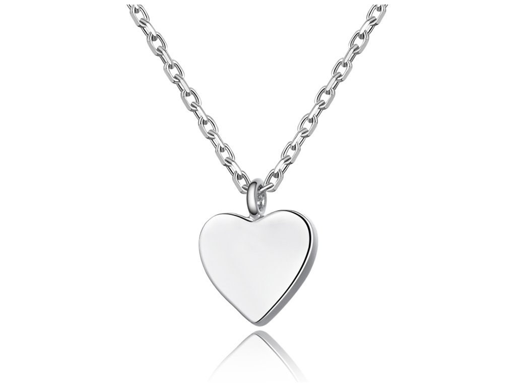 Stříbrný náhrdelník SRDÍČKO od OLIVIE