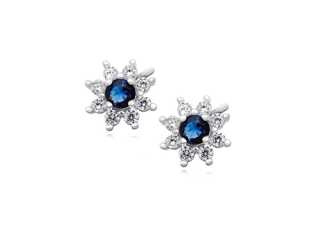 Stříbrné náušnice BLUE OLIVIE.CZ