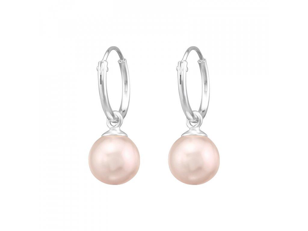 stříbrné náušnice perly