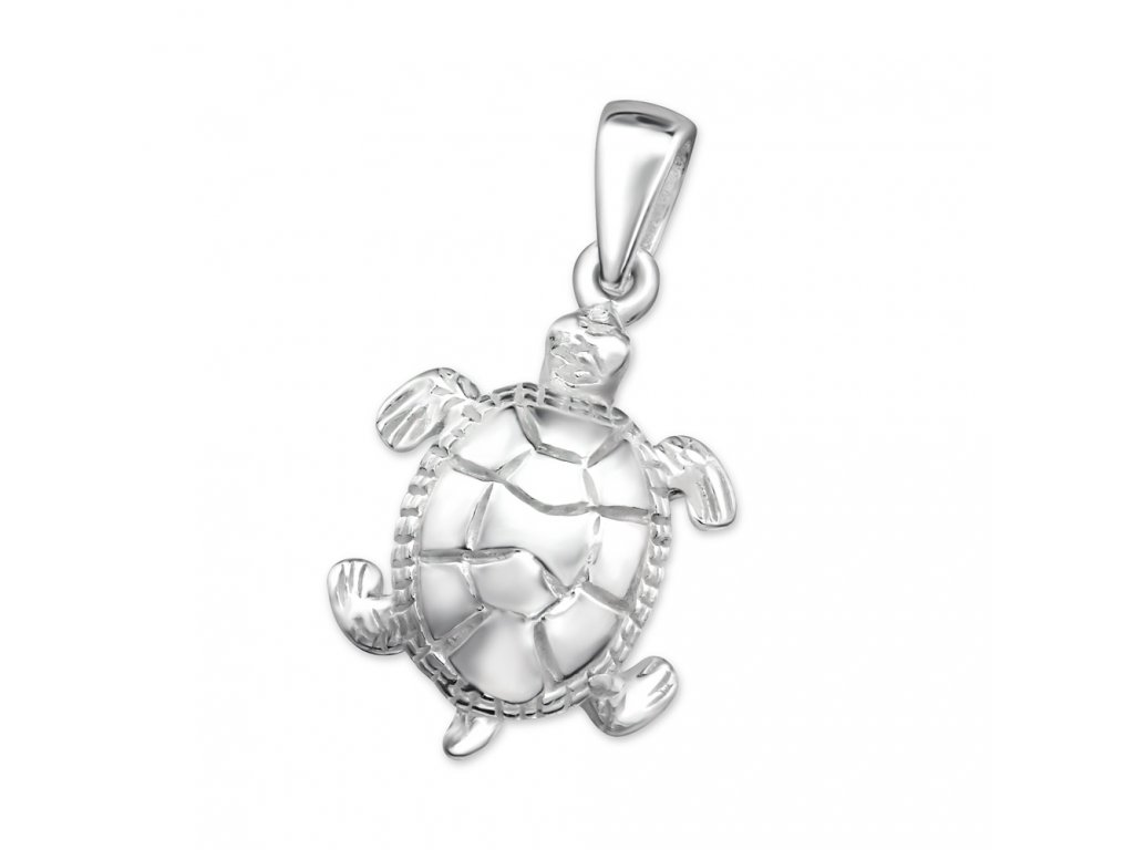 Stříbrný přívěsek želva
