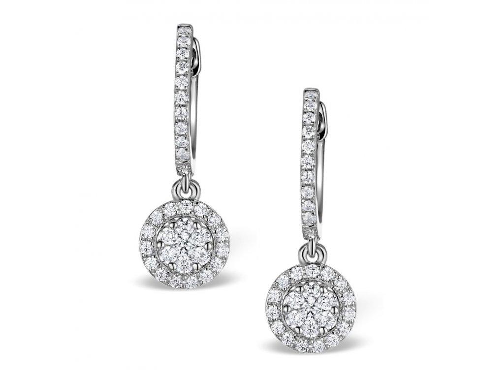 Stříbrné náušnice s krystalky