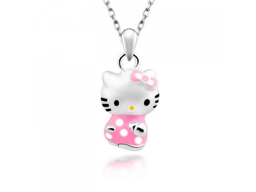 Hello Kitty stříbrný řetízek