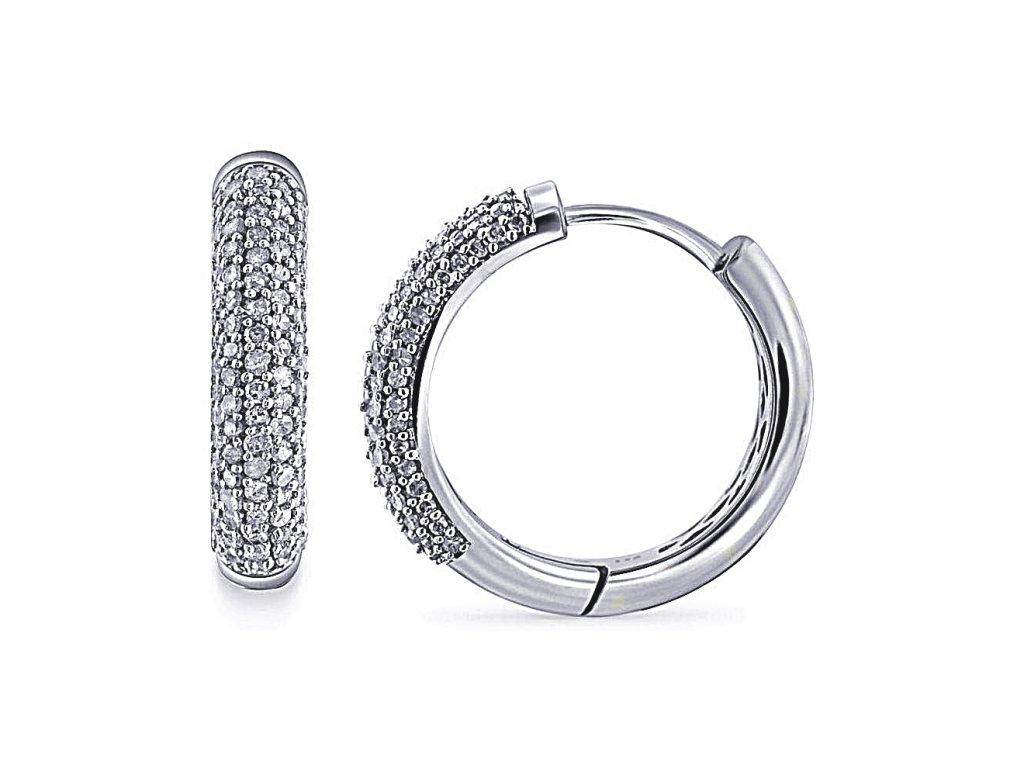 Stříbrné náušnice kruhy