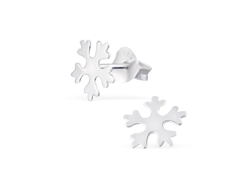 Dětské stříbrné náušnice sněhová vločka
