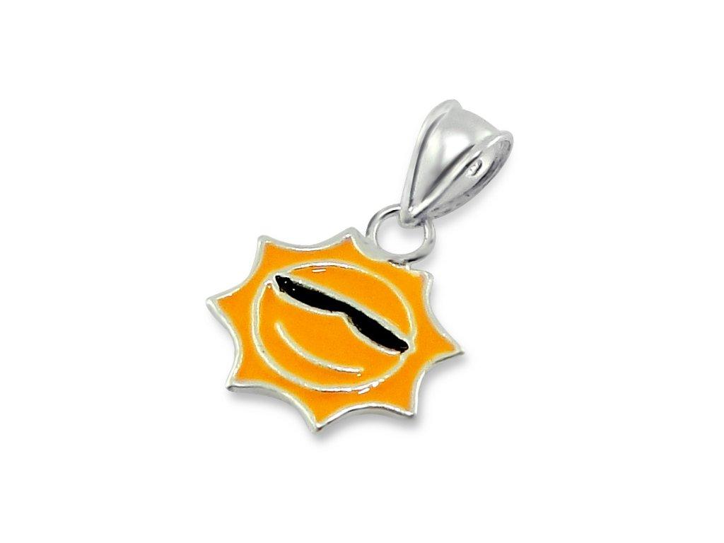stříbrný přívěsek sluníčko