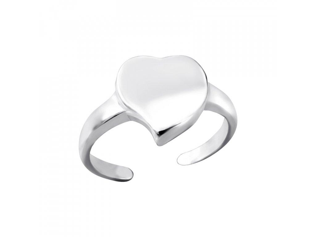 stříbrný prstýnek na nohu SRDÍČKO pro děti
