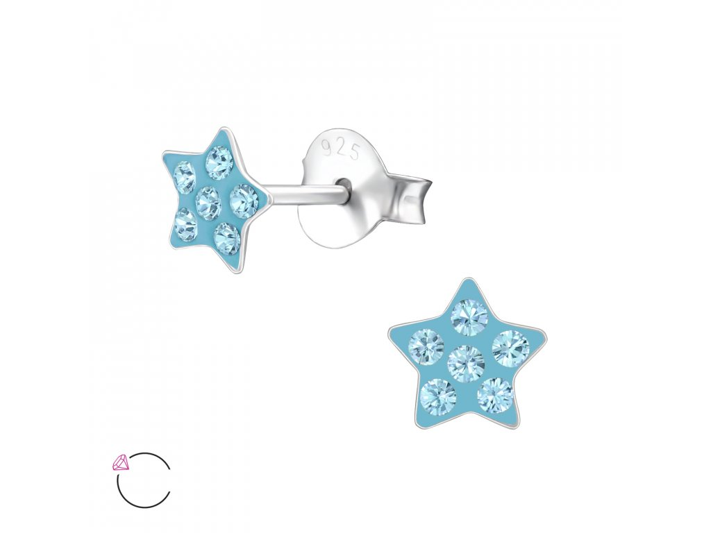 Dětské stříbrné náušnice hvězdičky