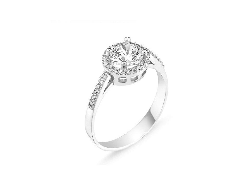 stříbrný prsten zásnubní