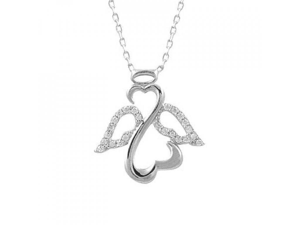 46313de3a 1383 Stříbrný řetízek ANDĚL Ag 925; 1,70 g. - Stříbrné šperky OLIVIE