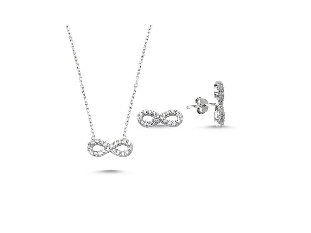 Sada stříbrných šperků NEKONEČNO