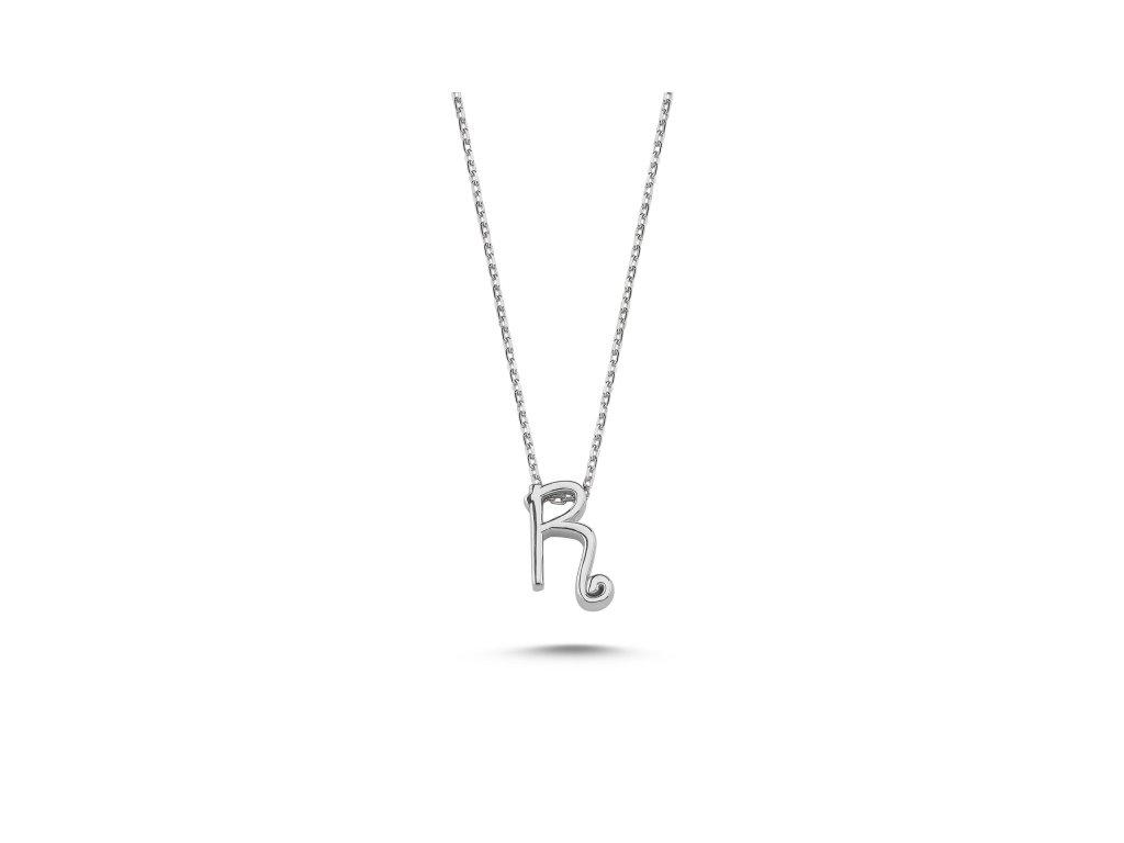 Stříbrný řetízek PÍSMENO R OLIVIE.CZ