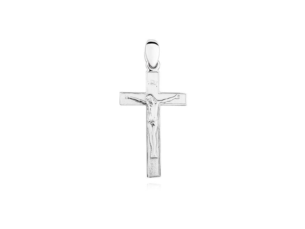 Stříbrný přívěsek KŘÍŽEK - JEŽÍŠ