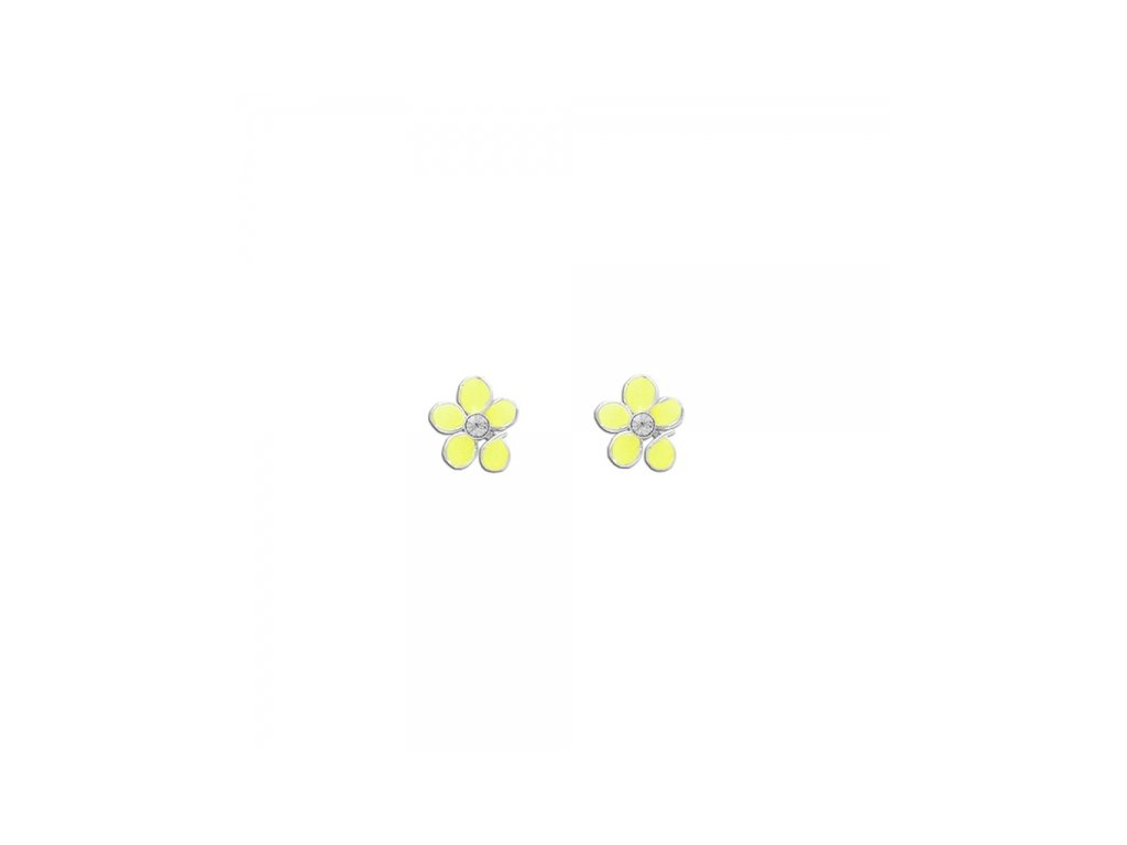 Dětské stříbrné náušnice KVÍTEK DAISY