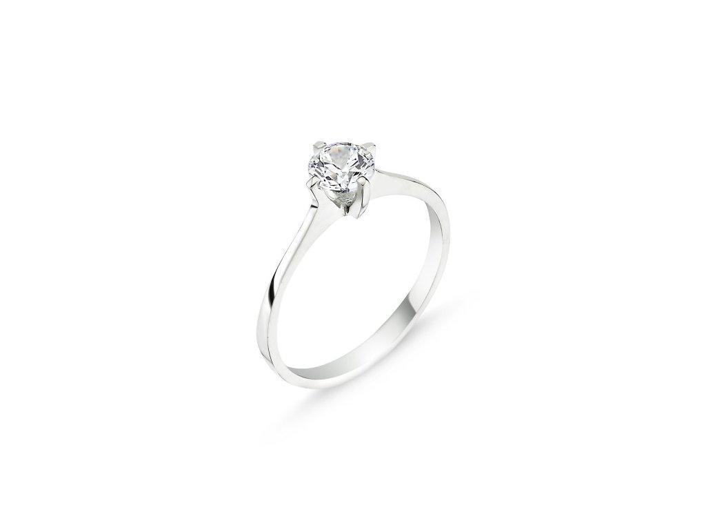 Zásnubní prsten stříbro 925/1000 stříbrný prstýnek Swarovski