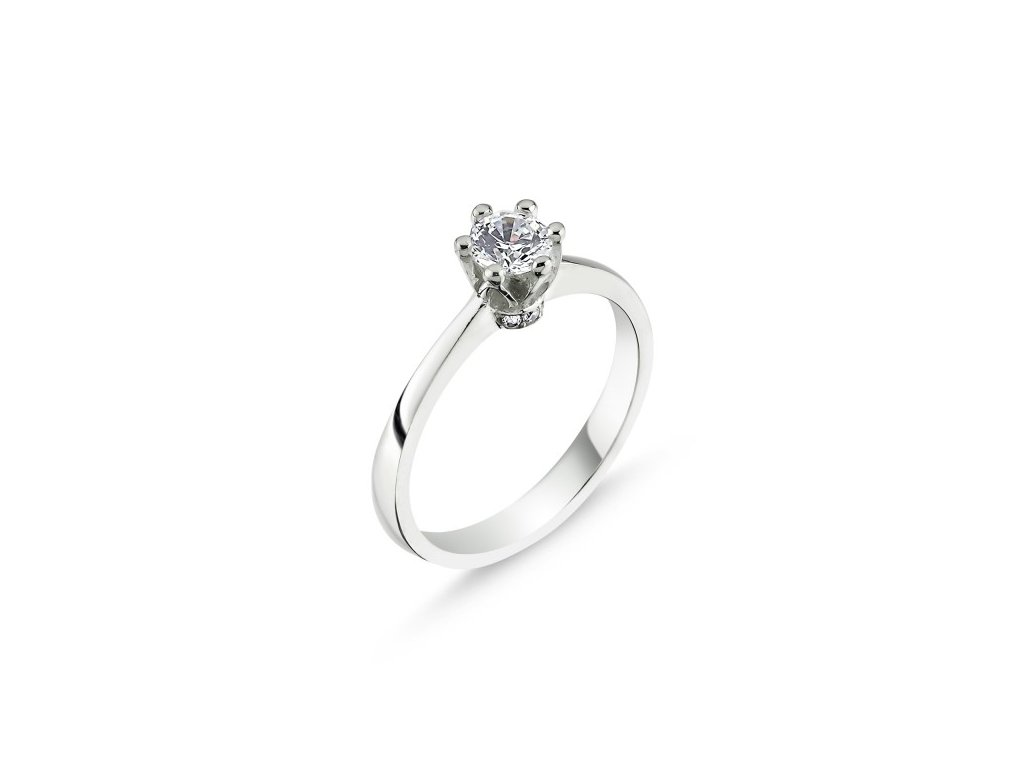 Stříbrný prsten QUEEN