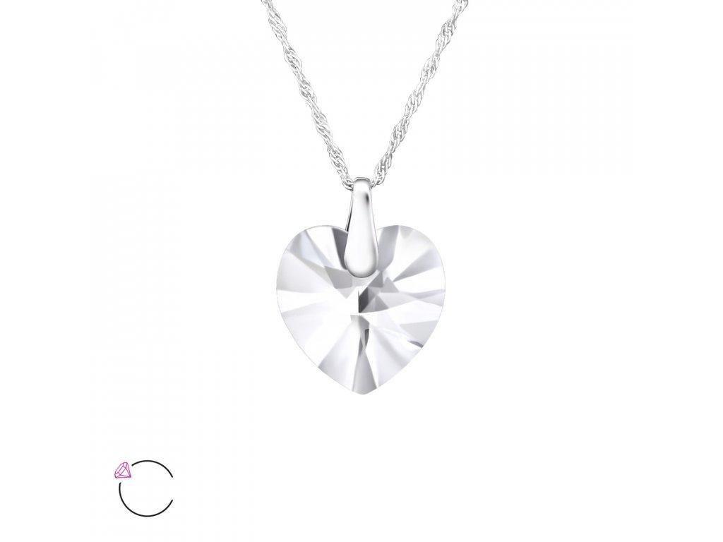 1959 Stříbrný náhrdelník SRDCE Swarovski AB Ag 925  1 0443a3c7e63