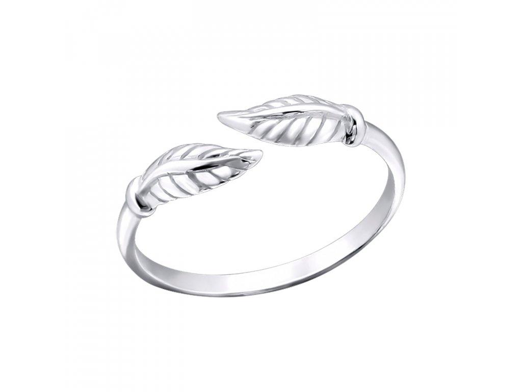 Stříbrný prsten na nohu LÍSTEK