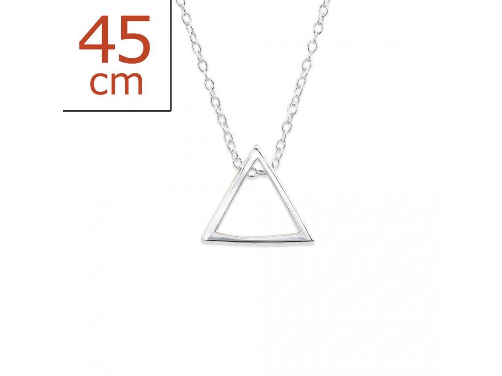 Stříbrný řetízek trojúhelník OLIVIE.CZ