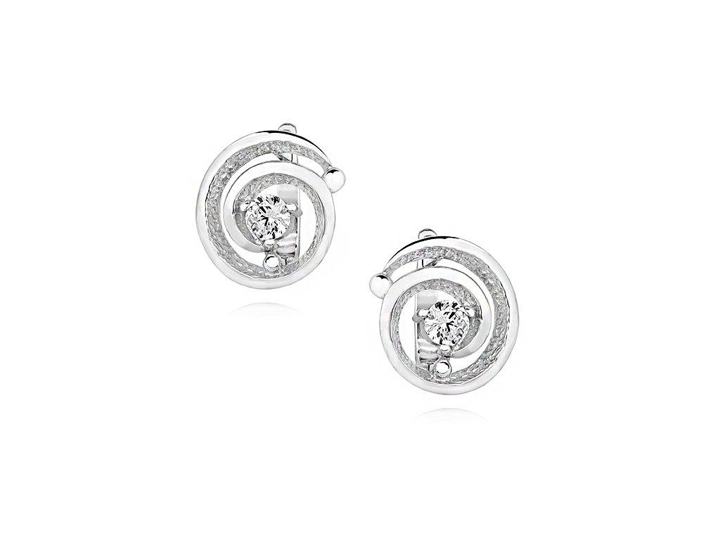 Luxusní stříbrné náušnice se zirkony