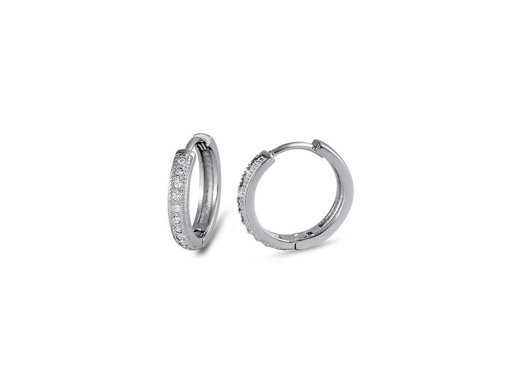 Stříbrné kruhové náušnice se zirkony