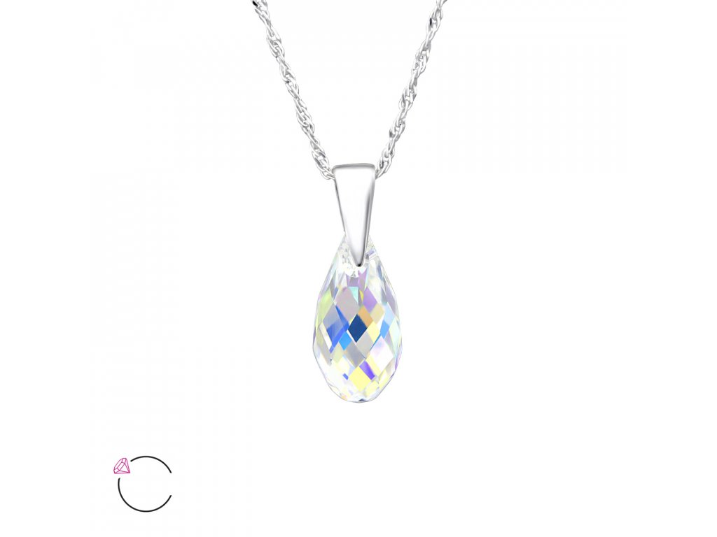 1961 Stříbrný náhrdelník SLZA Swarovski AB Ag 925  1 531aaa7b373