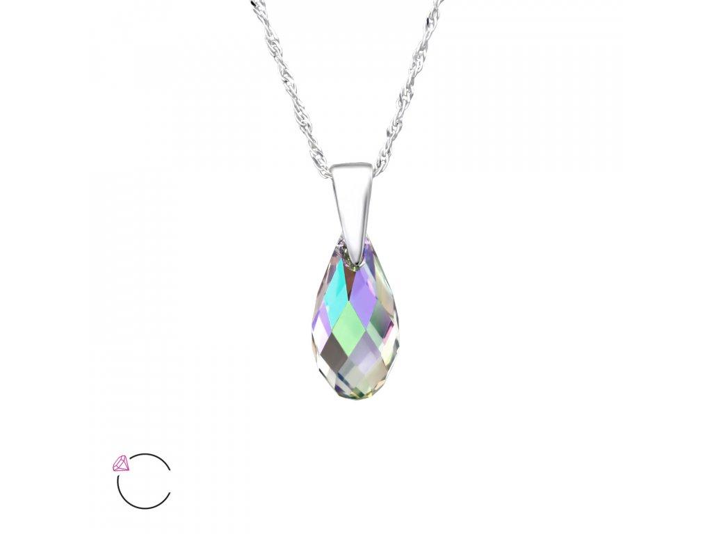 Stříbrný náhrdelník SLZA Swarovski PARADISE
