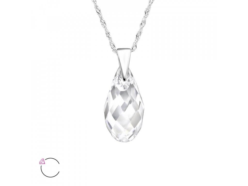 1975 Stříbrný náhrdelník SLZA Swarovski Ag 925  1 e67857ea674