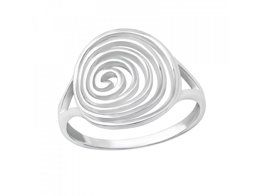 Stříbrný spirálový prsten