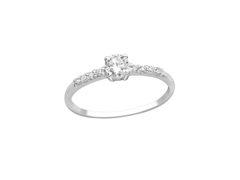 0207 Stříbrný zásnubní prsten  Ag 925, 1 g.