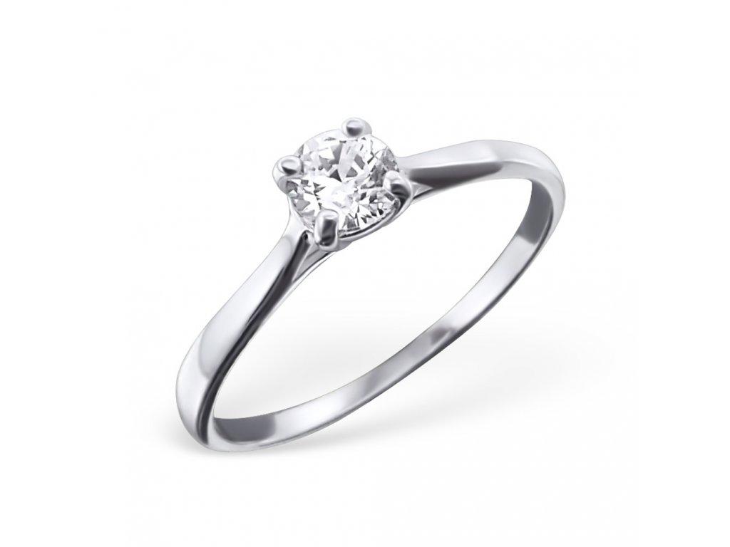 0214 Stříbrný prsten se zirkonem Ag 925 a4c7d30f5b8