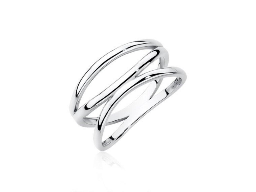 Stříbrný prsten se třemi liniemi