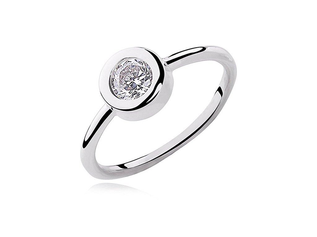 Stříbrný rhodiovaný prsten