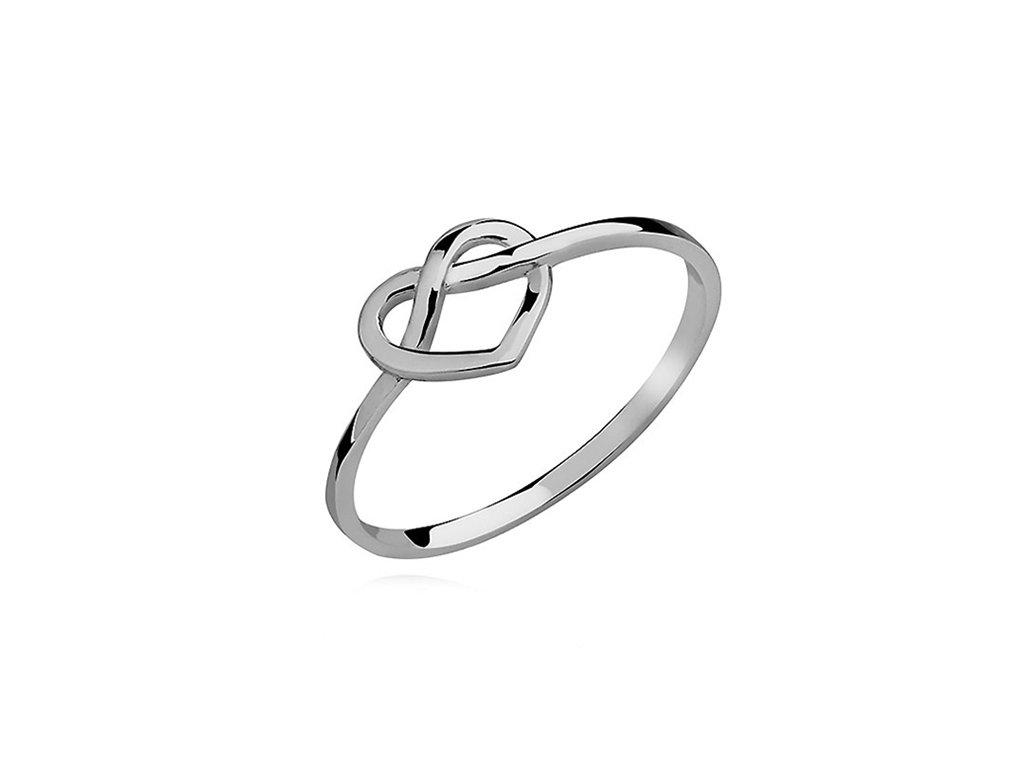 Stříbrný prsten NEKONEČNÉ SRDCE