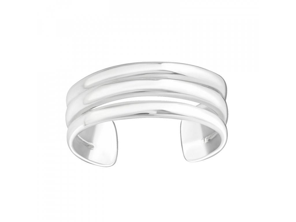 Stříbrný prsten na nohu 3 linie