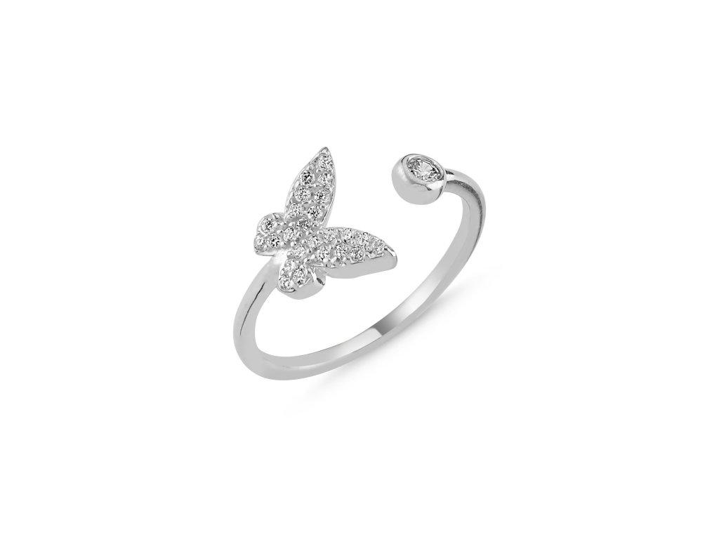 Stříbrný prsten MOTÝL - nastavitelná velikost