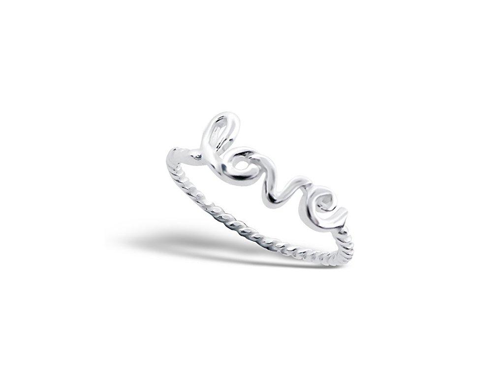 Stříbrný prsten LOVE OLIVIE.CZ