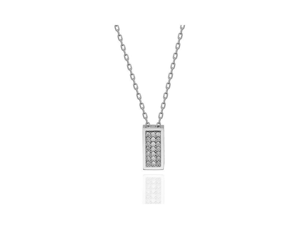 Stříbrný náhrdelník se Swarovski krystaly