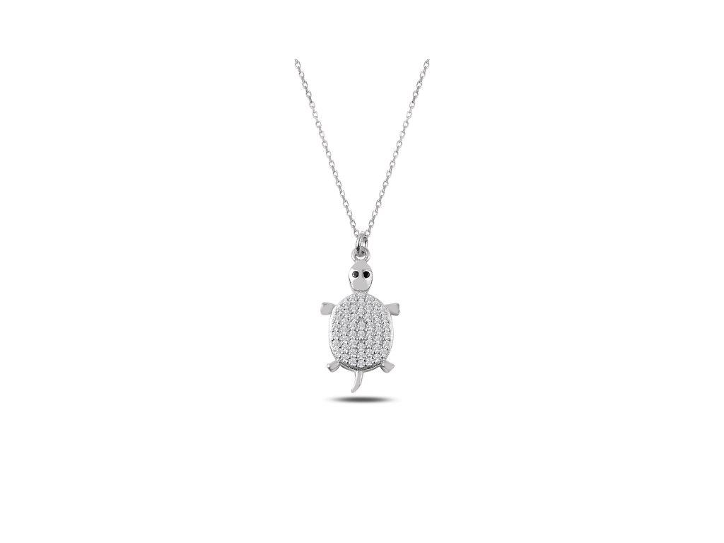 Stříbrný náhrdelník ŽELVA